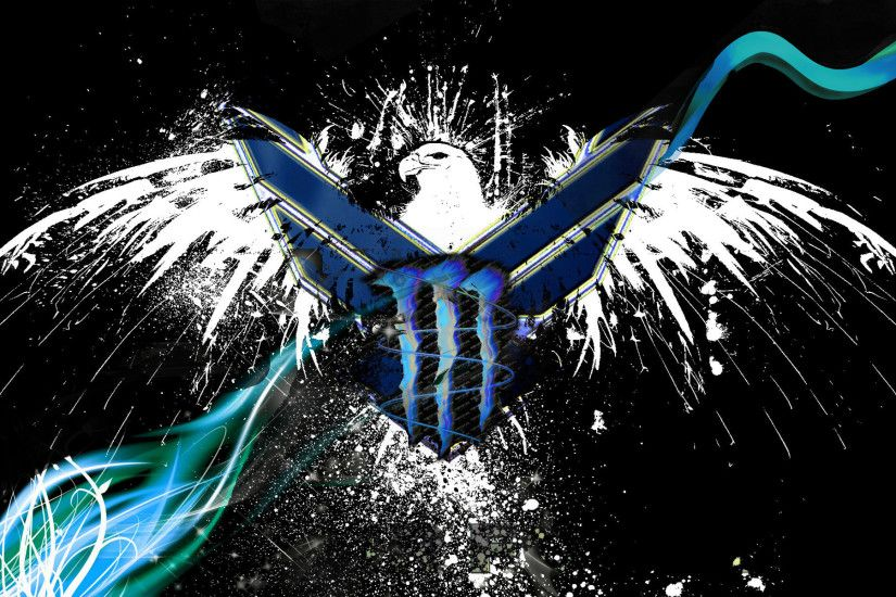 Blue Monster Energy Logo Wallpaper - WallpaperSafari
