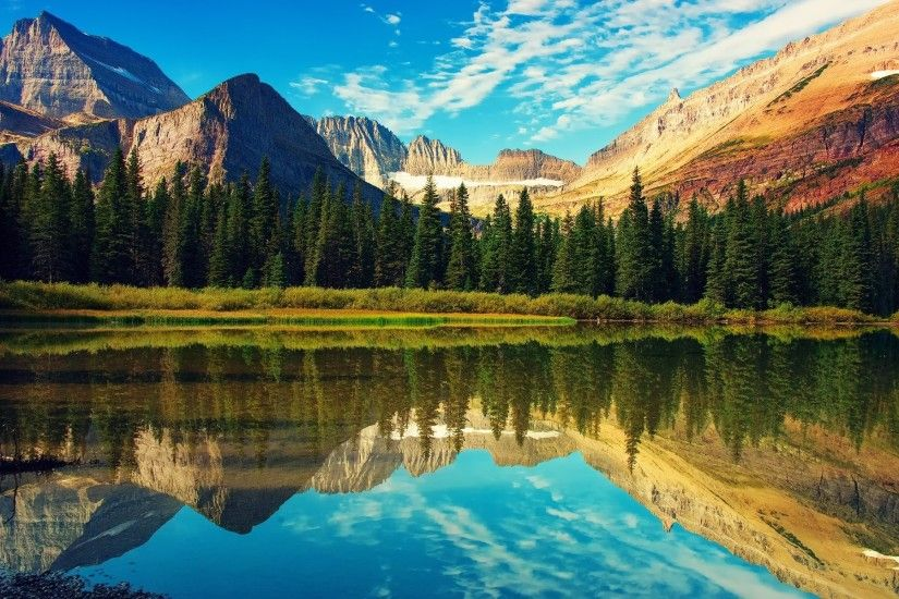 Splendid Glacier National Park wallpapers and stock photos