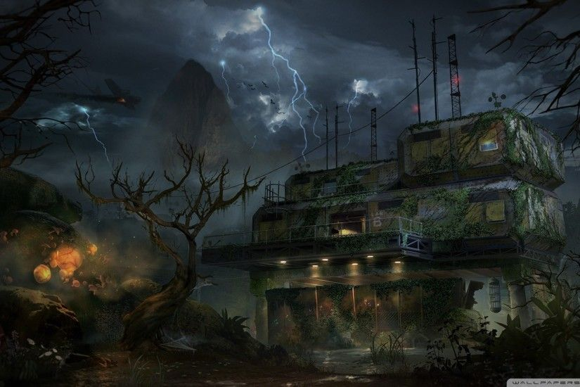 1920x1080 Preview wallpaper call of duty, black ops 2, art, zombie 1920x1080
