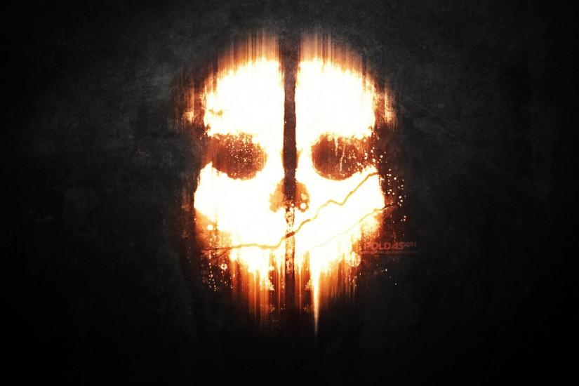 Call of Duty Ghosts dark mask skull wallpaper background