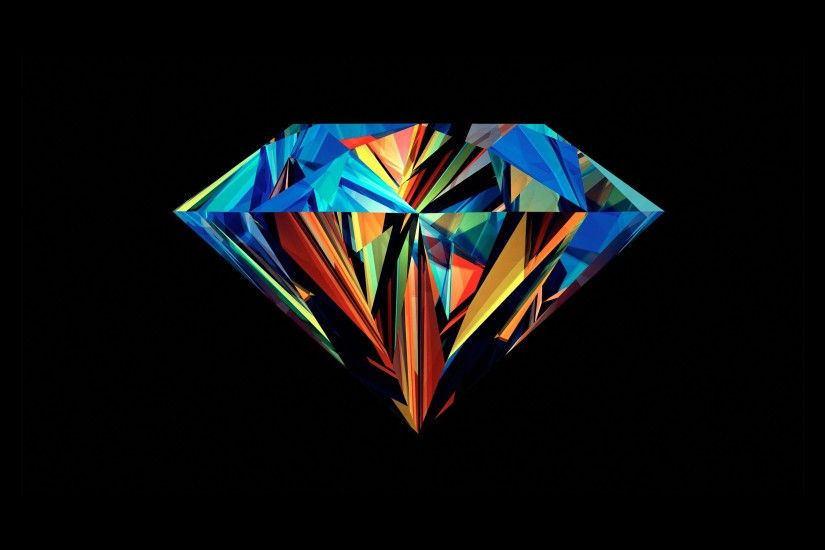 Colorful Rainbow Diamond Wallpaper from google