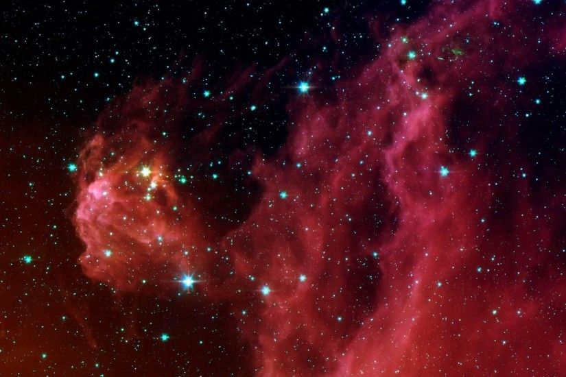 Red Real Space Hubble Telescope Galaxies Scape Stars Photo Wallpaper Nature