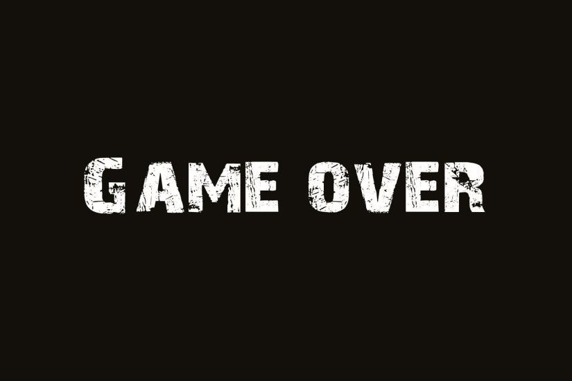 typo, Digital art, Minimalism, GAME OVER Wallpapers HD / Desktop and Mobile  Backgrounds
