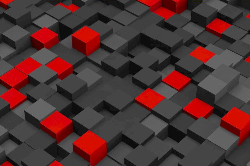 Red and black 3D boxes. Loopable abstract background. 4k UHD (3840x2160)  Motion Background - VideoBlocks