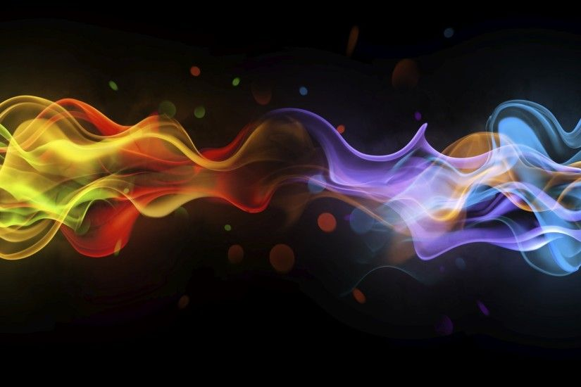 abstract black background smoke multicolored