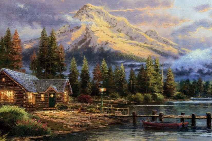 Thomas Kinkade Disney Wallpapers Cartoon - WallpaperSafari ...