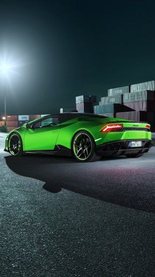 Preview wallpaper lamborghini, huracan, spyder, side view 1440x2560