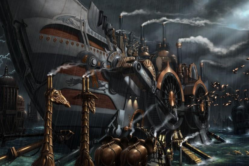 steampunk background 2500x1566 for mac
