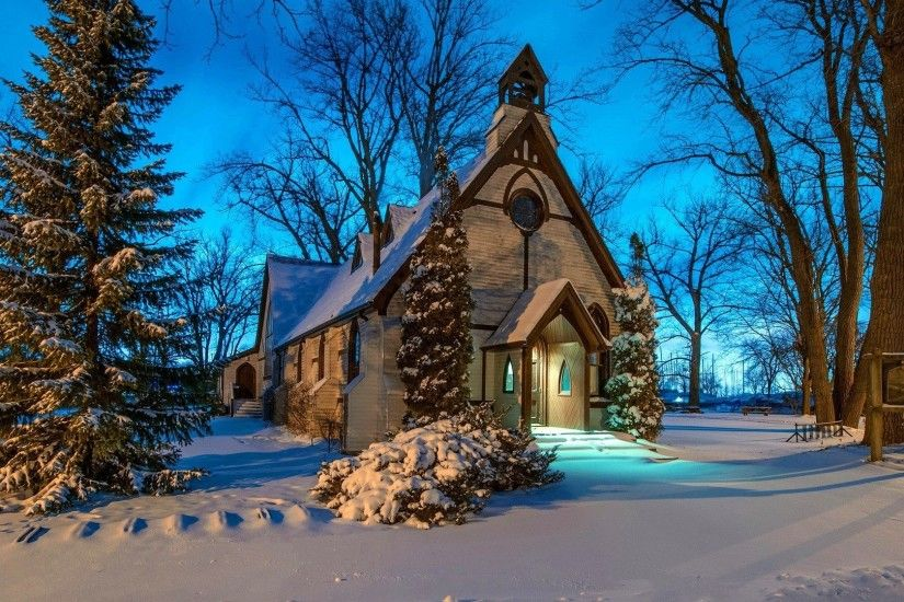Coldness Season Trees Nature Winter Woods Forest Frost Building Ice Church  Snow Animated Wallpaper Windows 7