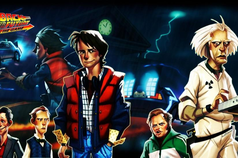 Wallpaper back to the future the game, telltale games, pc, ipad, mac