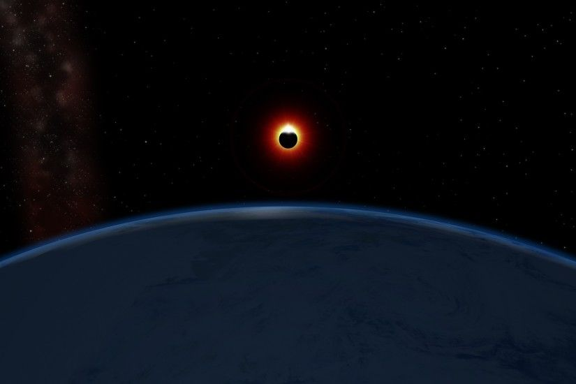 Solar Eclipse From Space Station