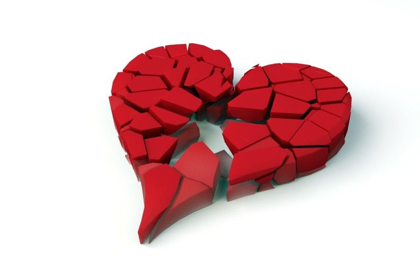Artistic - Heart Artistic Broken Heart Red Wallpaper