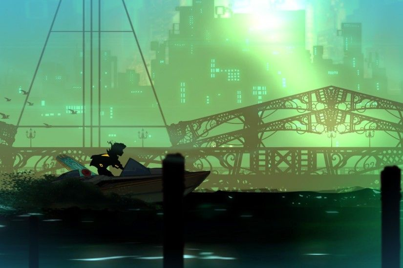 Wallpaper from Transistor
