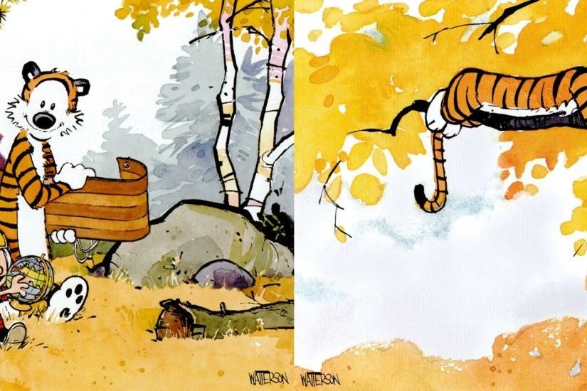 Dual Screen Wallpapers - Calvin and Hobbes