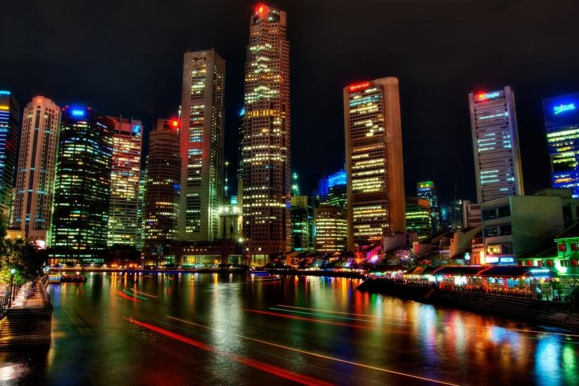 Singapore Night Wallpapers Pictures Photos Images · «