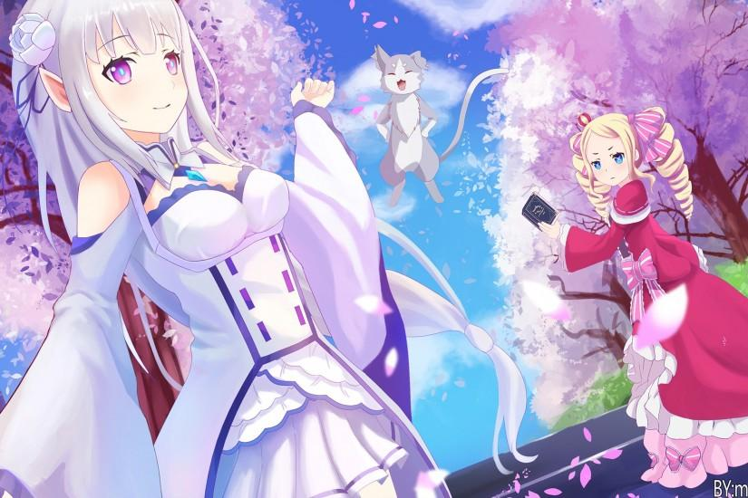 re zero wallpaper 2000x1251 download free