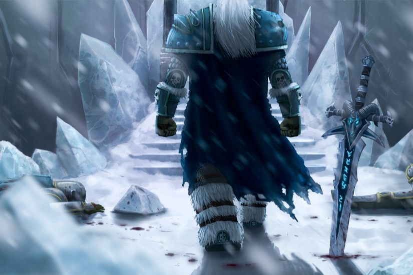Tags: Anime, Warcraft, Lich King, Arthas Menetil, Throne, Soldier,