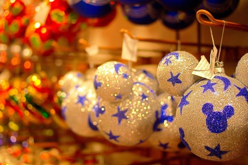 1920x1080 Wallpaper christmas decorations, balloons, hang, tinsel, christmas