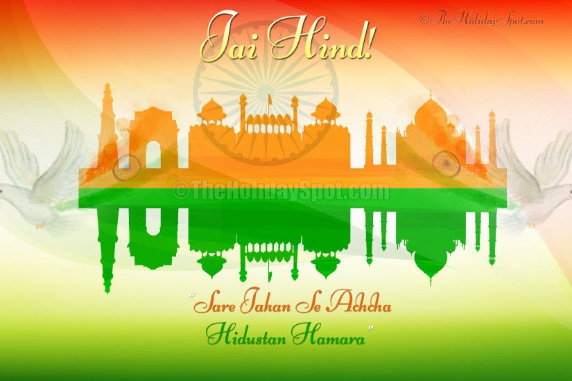 Indian Independence Day Wallpaper - Red Fort, India Gage, Qutub Minar, Taj  Mohal