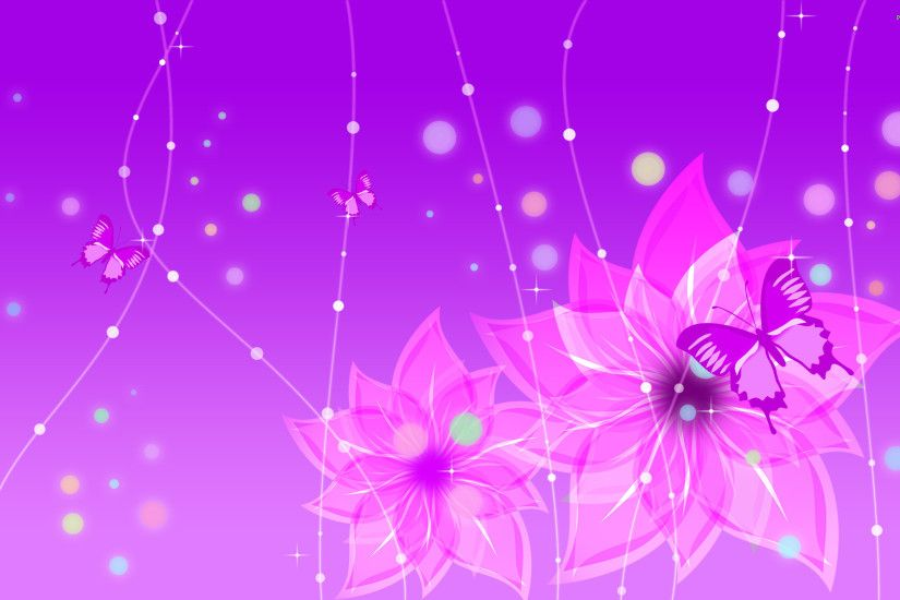 Magenta Flowers Full HD Quality Wallpapers