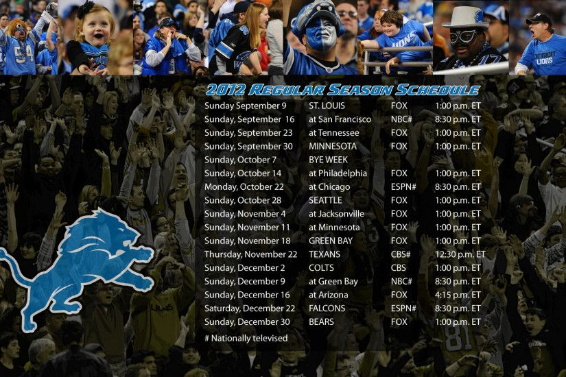 Gallery For > Detroit Lions 2013 Schedule Wallpaper