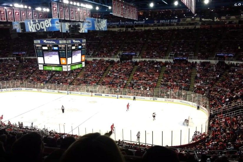 Joe Louis Arena Detroit kids first game Detroit Red Wings