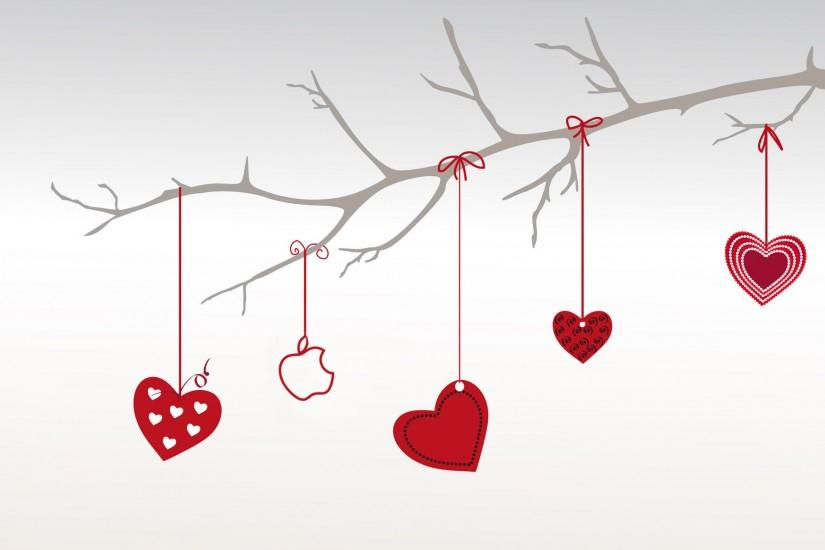 Heart branch for valentine day
