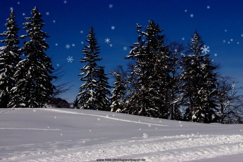 Free Snowy Christmas Desktop Wallpapers - www.wallpapers-in-hd.com