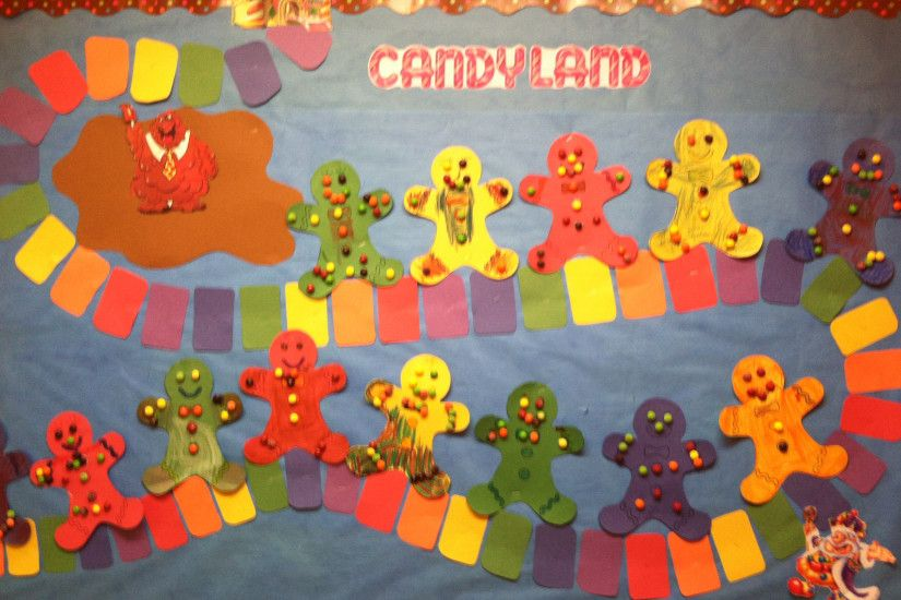 Candy land bulletin board I did for my Christmas theme.