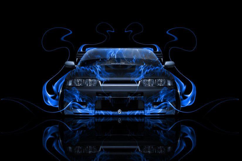 Nissan Skyline GTR R33 JDM Front Blue