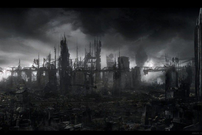 ... Wallpaper Abyss DAY THE EARTH STOOD STILL sci-fi apocalyptic city  destruction . ...
