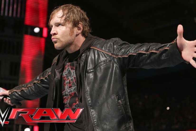 1920x1080 Dean Ambrose ponders his potential WWE World Heavyweight  Championship reign: Raw, March 7