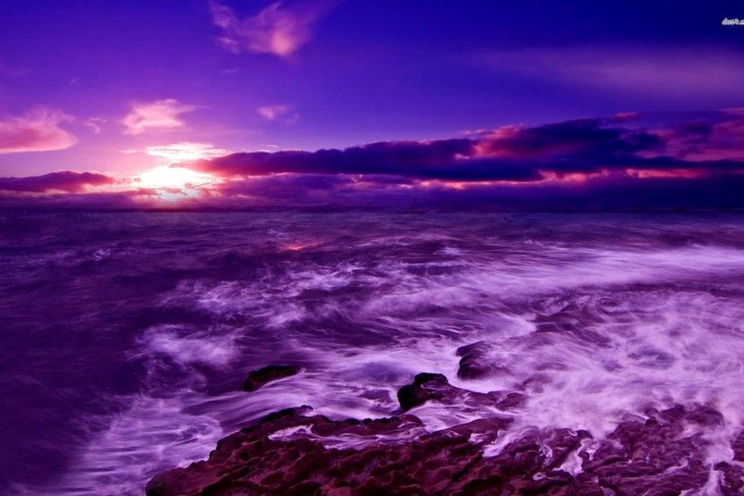 ... Shipwreck purple sunset Wallpaper – Wallpapertic ...