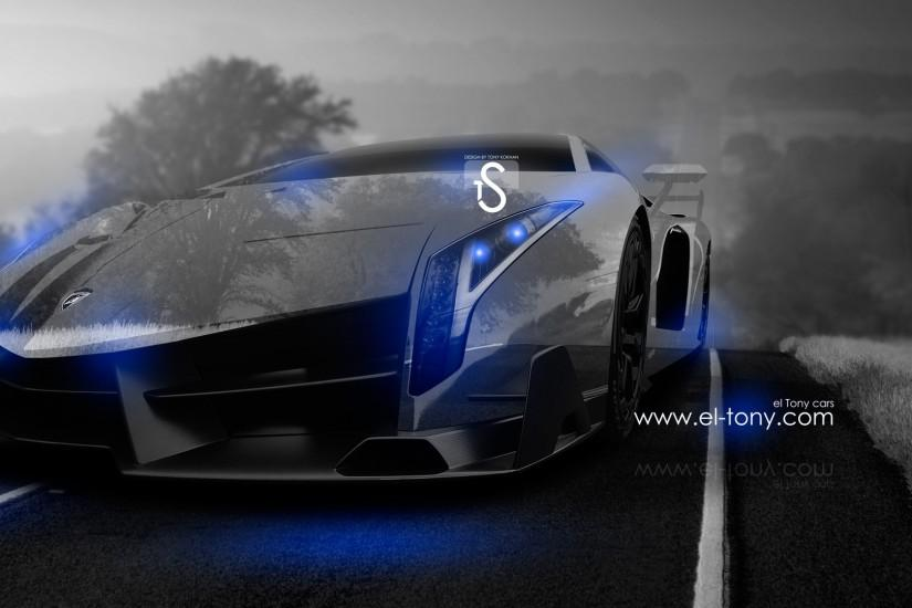 Blue Lamborghini Veneno Wallpapers Desktop with Wallpaper High Resolution
