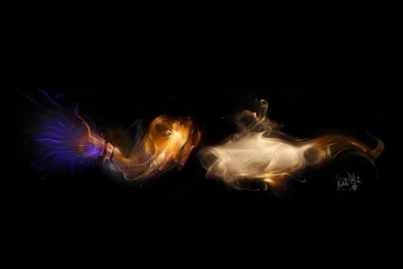 Preview wallpaper smoke, dark backgrounds, light, figure 3840x2160