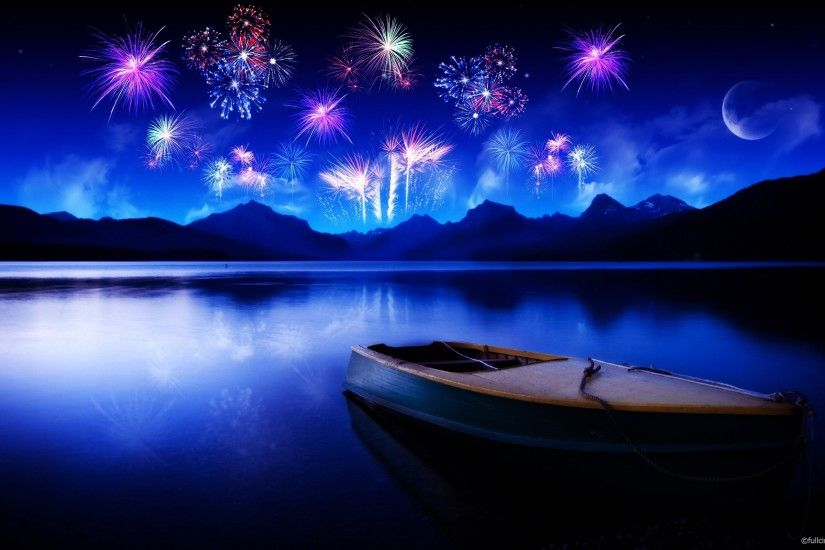 Best computer wallpapers 2012 – bestscreenwallpaper.com – fireworks to lake