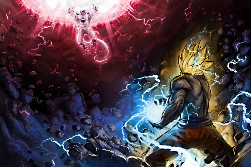 dragon ball z goku vs frieza images wallpapers