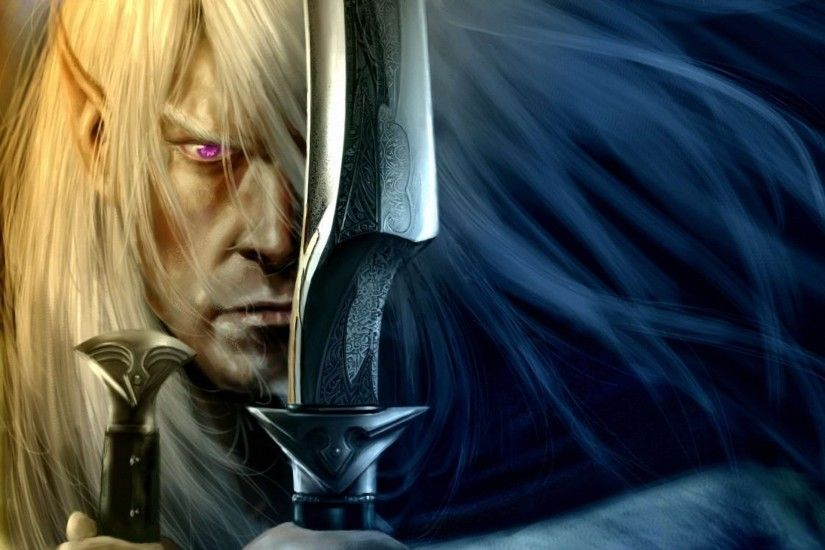 Weapons Art Swords Drow Elf Wallpaper At Fantasy Wallpapers