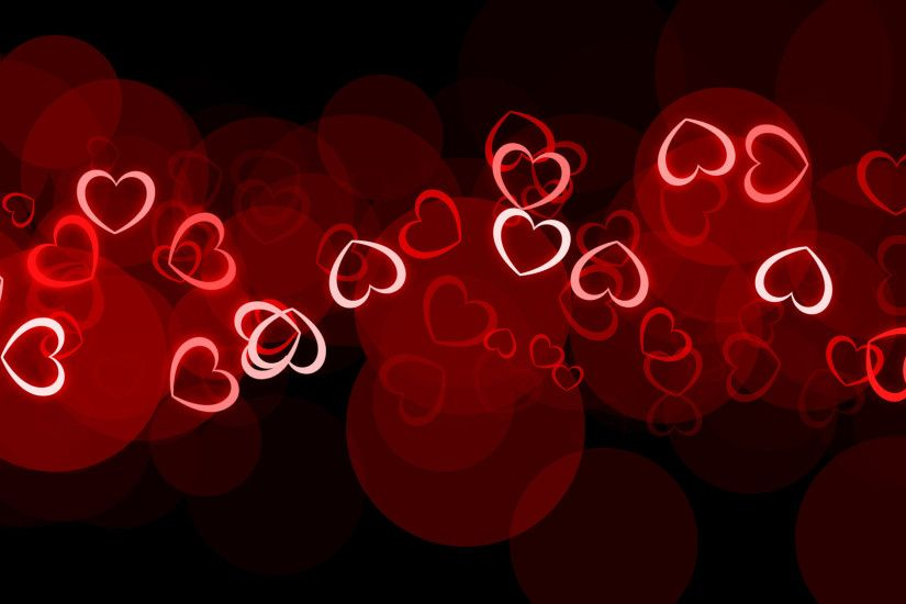 Glowing Hearts Happy Valentines Day HD Desktop Wallpaper 1920×1080