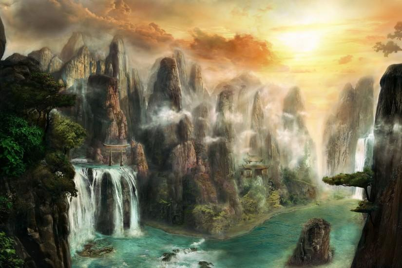 widescreen fantasy wallpaper hd 2880x1800