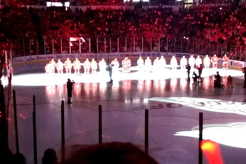 Detroit Red Wings 2015-16 Season Home Opener Opening Ceremony - YouTube