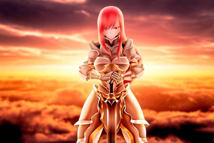 ... Perfect Fairy Tail Erza Armor Wallpaper Free Wallpaper For Desktop and  Mobile in All Resolutions Free