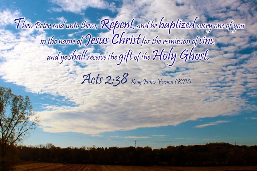 Acts 2:38 HD Wallpaper