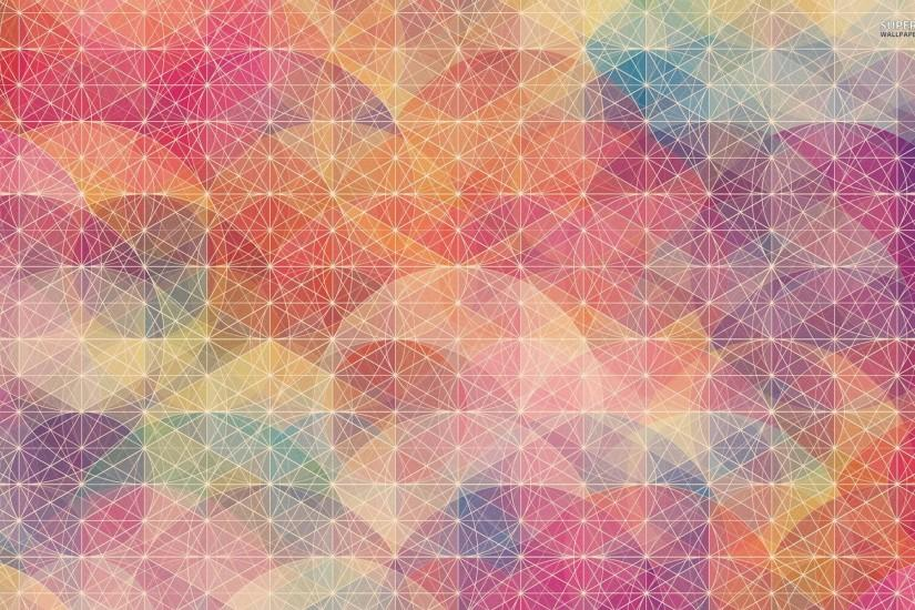 Circles and plain polygons wallpaper - Abstract wallpapers - #