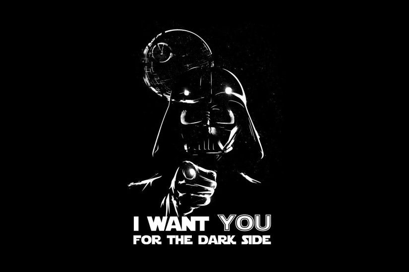 Abstract Black Background Dark Side Darth Vader Death Star Propaganda  Simple Simplistic Spoof Wars