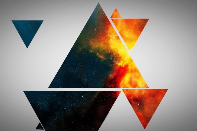 Colorful triangles wallpaper - 1069964