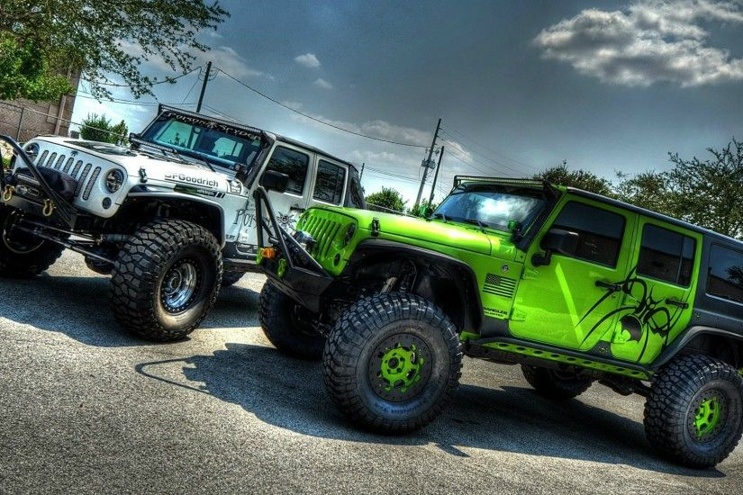 Two cars Jeep Wrangler