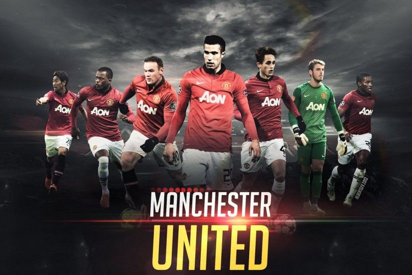 HD Wallpaper: Manchester United 2013 - 2014 | Emblematic Football Players