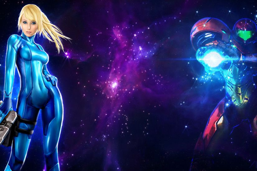 Samus Aran Space Wallpaper by AKarl47 Samus Aran Space Wallpaper by AKarl47