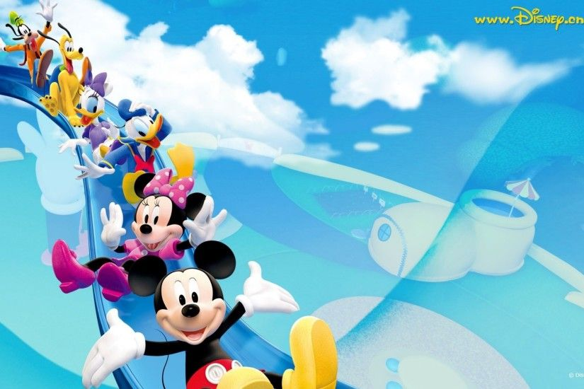 Mickey and friends wallpaper, Goofy, pluto